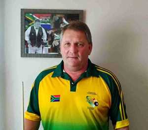 Pool player for All Africa Champs