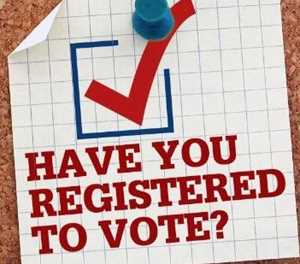 Register online for coming elections