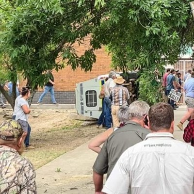 Shots fired as police and farmers clash outside farm murder court case