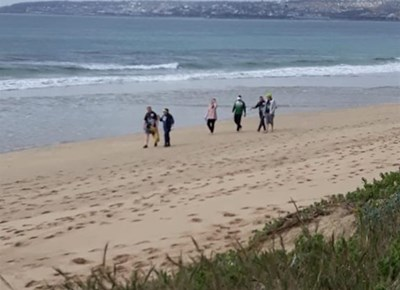 Coastal cleanup in Mossel Bay