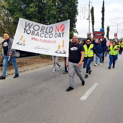 Silent march for World No Tobacco Day