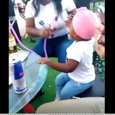 WATCH: Shocking video of toddler smoking, drinking goes viral on social media