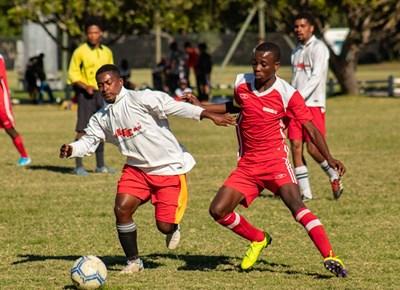 Soccer action at Loerie Park