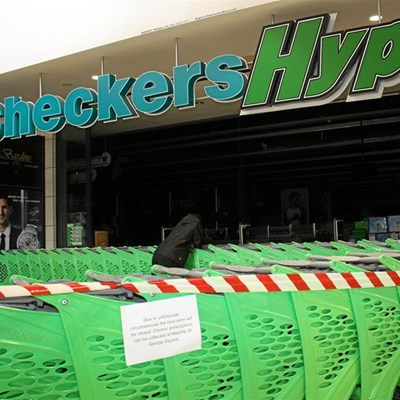 Checkers Hyper closed after fire