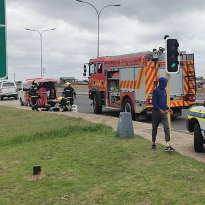 Brandweerman beseer op ongelukstoneel