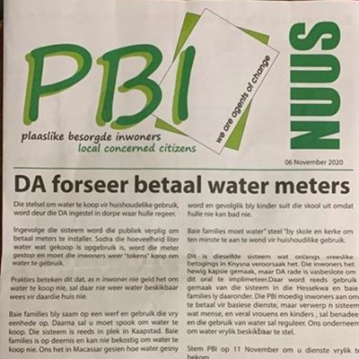 DA says PBI water flyer doesn't wash