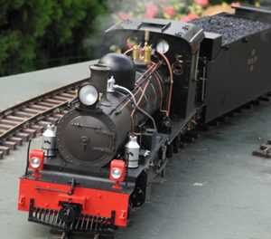 Larger scale model trains on display