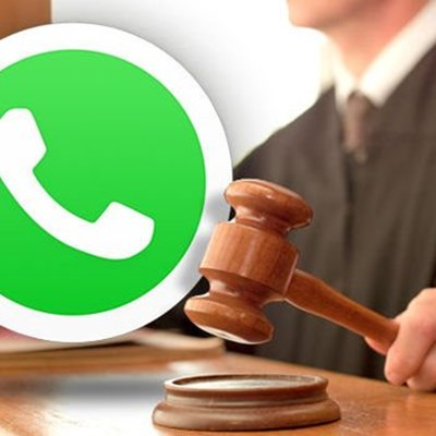 Whatsapp message resulting in a fine or imprisonment