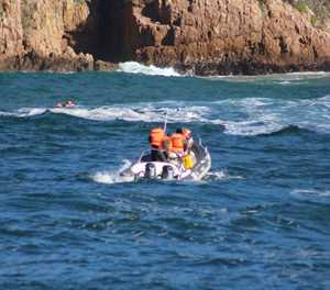 Capsized charter boat safely salvaged