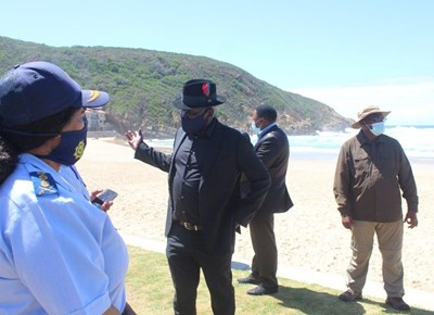 Bheki Cele at Herold's Bay