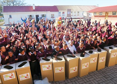 School recycling project launched