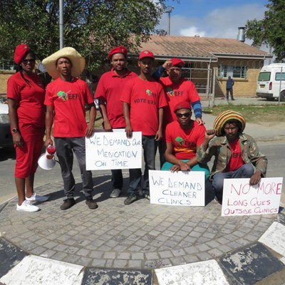 EFF picket for better healthcare