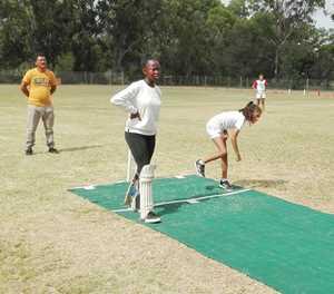 Girls' cricket team unbeaten at regional festival