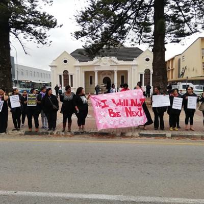 Silent protest held against gender-based violence