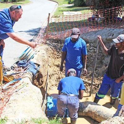 Water leak in repairs