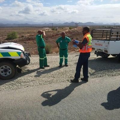 EMS voertuig in botsing