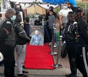 Traffic jam as bikers, motorists pay tribute to Ainsley Hermanus