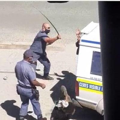 Sjambok-wielding Worcester cops still on duty