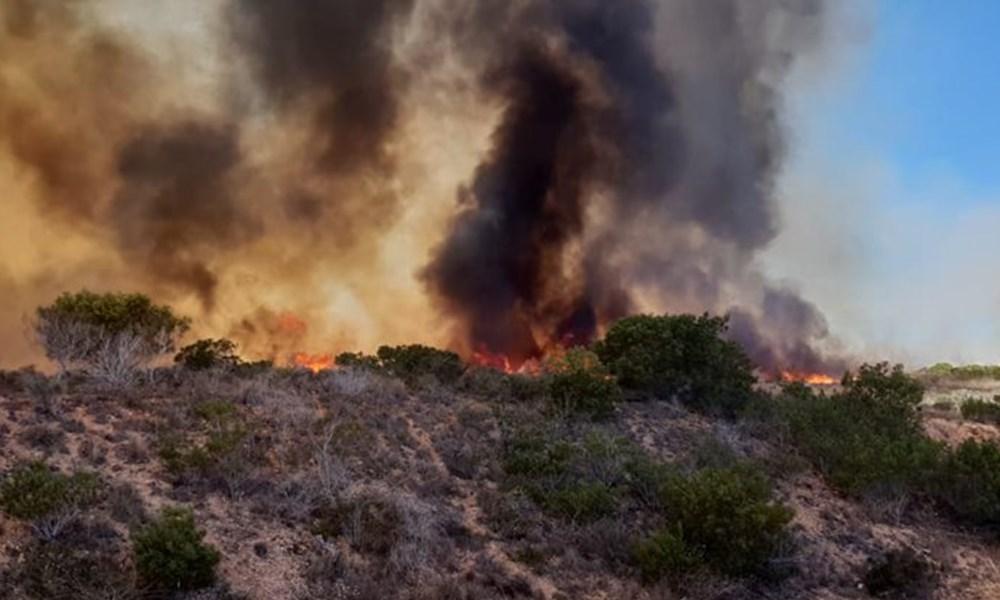 Fire burning in Mossel Bay