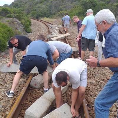 Railway line sabotaged