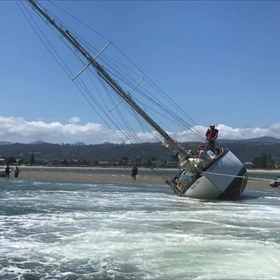 Yacht saved from sinking near Heads