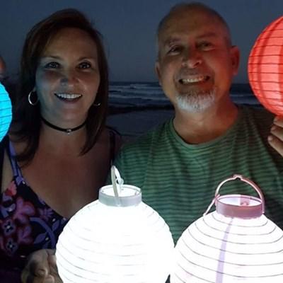 Lanterns verlig Jongensfontein