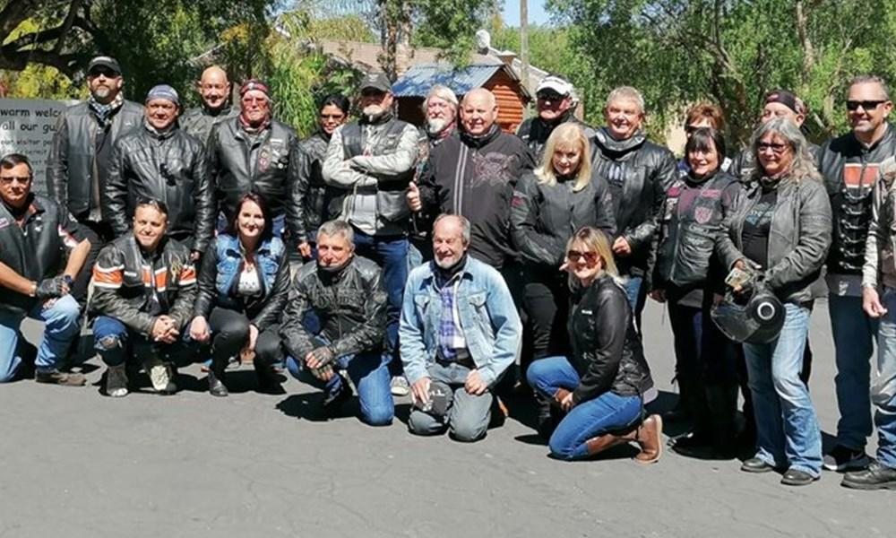 Harley Davidson saamtrek op Oudtshoorn