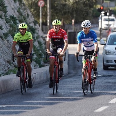 Giro on rocky ride in Holy Land