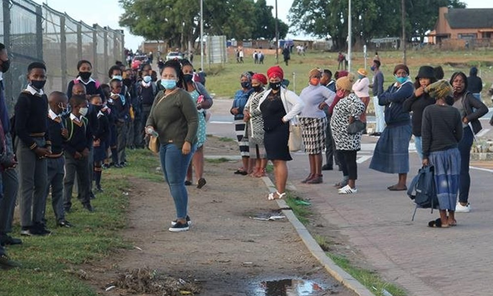 First day of school in Thembalethu