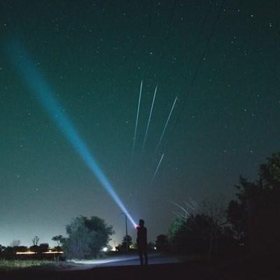 Laser light shone at aircraft investigated