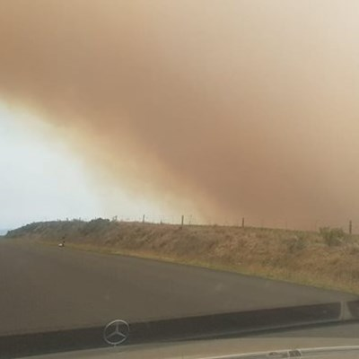 Firefighters battling two wildfires