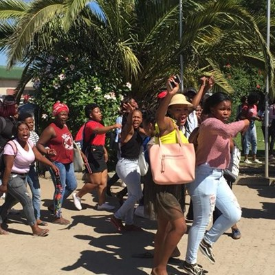 Students protest at South Cape College