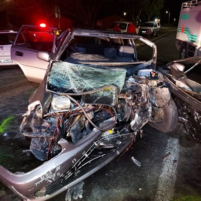1 seriously injured in head-on collision