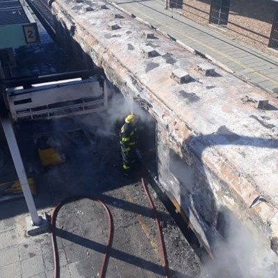 Train carriages set alight in Cape Town