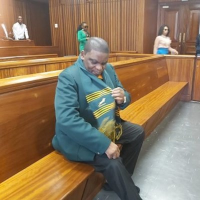 Omotoso arrives in court wearing Springbok outfit