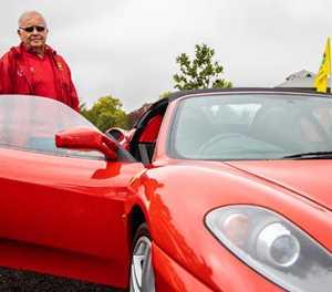 Ferraris roar into George