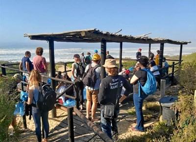 Lighthouse Academy beach cleanup