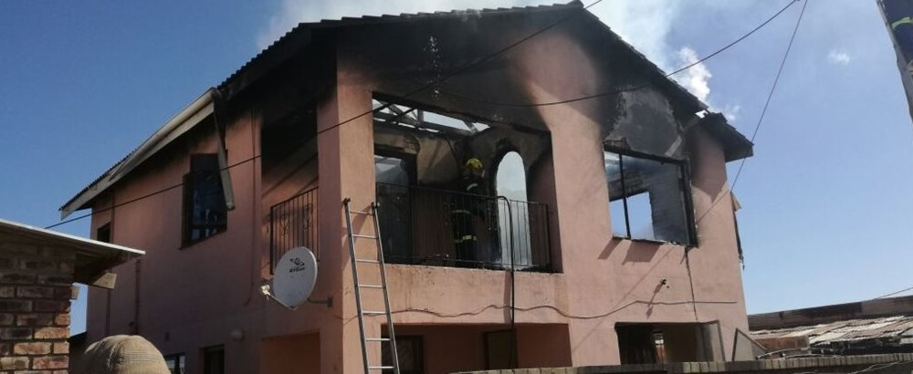 Brand verwoes huis