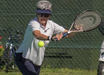 Tennis action in full swing