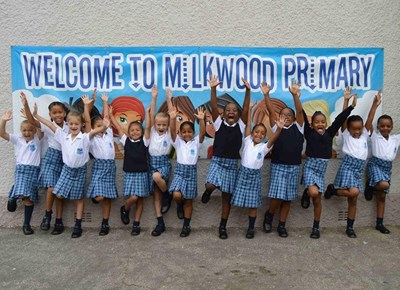 Milkwood Primary's grade 1's enjoy school