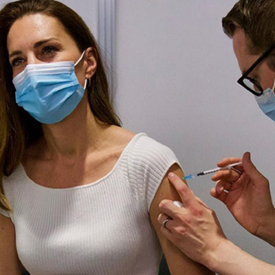 Kate Middleton 'grateful' after receiving Covid-19 vaccine