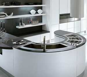 Benefits of a curved kitchen