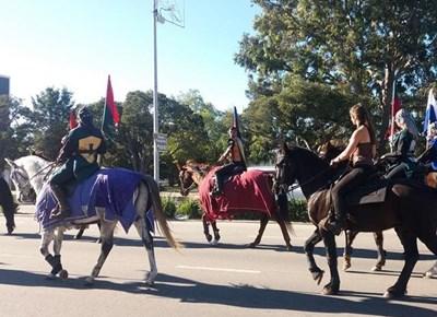 Medieval parade in George