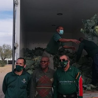 Emerging farmers receive cabbage donations