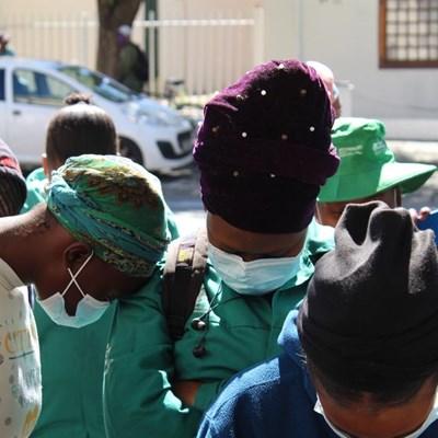 Community pickets against rape