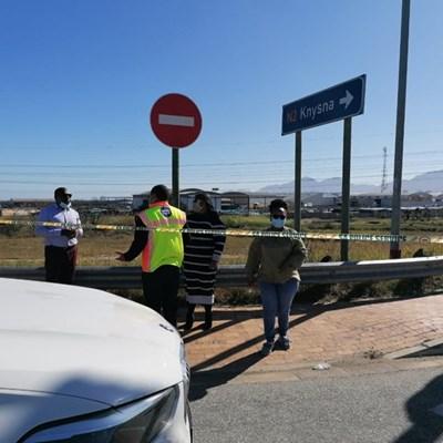 Traffic officer stable, minister on scene