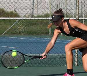 Local tennis stars showcase their talent