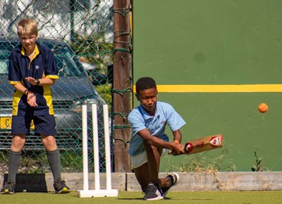 Kids enjoy mini cricket action