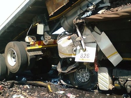 Two die in truck collision