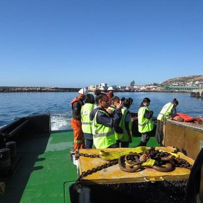 Mossel Bay girls explore the port